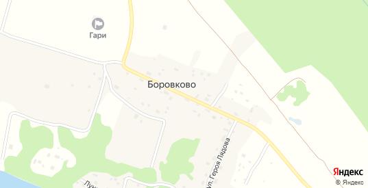 Улица Героя Лядова в деревне Боровково в Добрянке с номерами домов на карте. Спутник и схема онлайн