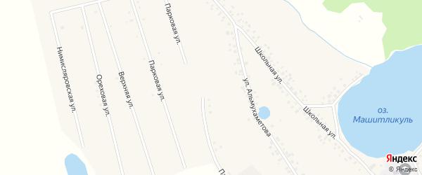 Парковая улица на карте села Нимислярово с номерами домов