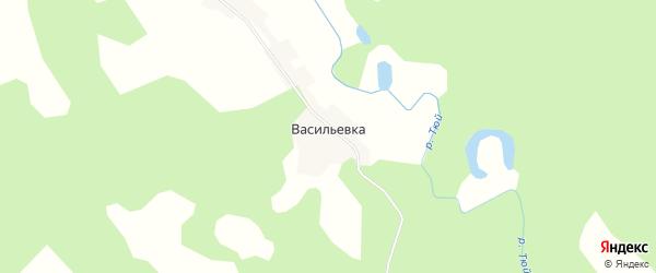 Карта деревни Васильевки в Пермском крае с улицами и номерами домов