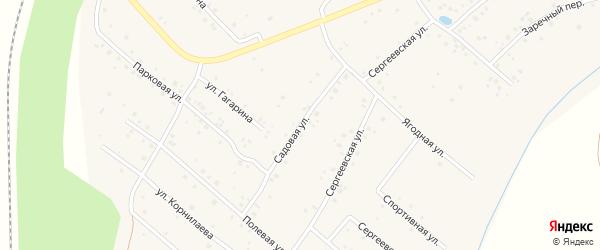 Садовая улица на карте села Чуваш-Кубово Башкортостана с номерами домов