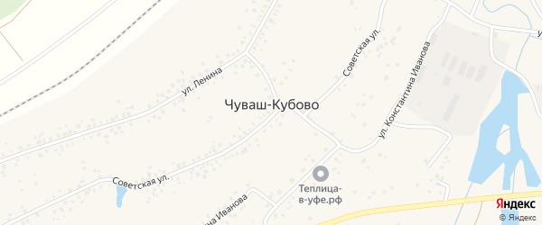Сергеевская улица на карте села Чуваш-Кубово Башкортостана с номерами домов