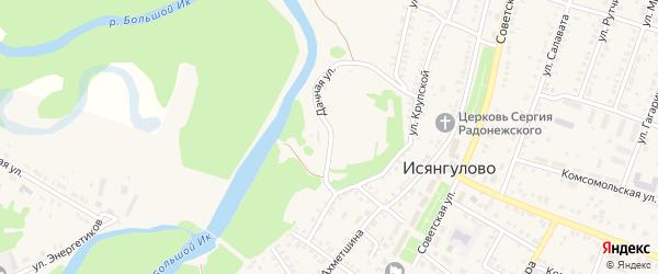 Дачная улица на карте села Исянгулово с номерами домов