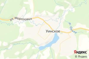 Карта с. Уинское Пермский край