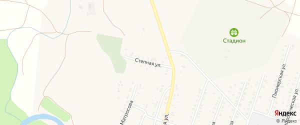 Степная улица на карте села Исянгулово Башкортостана с номерами домов