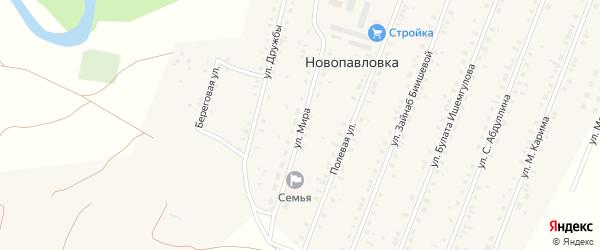 Улица Мира на карте села Новопавловки с номерами домов