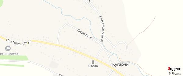 Садовая улица на карте села Кугарч Башкортостана с номерами домов
