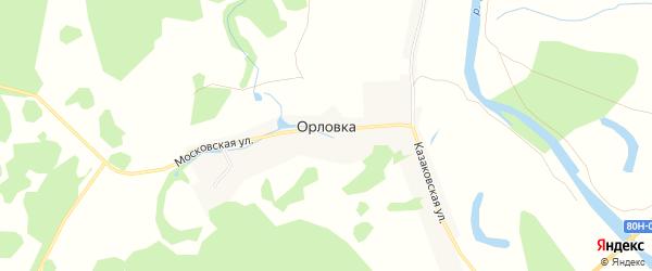 Карта деревни Орловки в Башкортостане с улицами и номерами домов