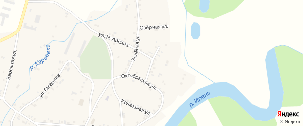 Садовая улица на карте села Карьево Пермского края с номерами домов