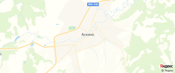 Карта Арбашевского сельсовета Республики Башкортостана с районами, улицами и номерами домов