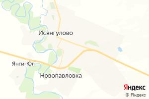 Карта с. Исянгулово Республика Башкортостан