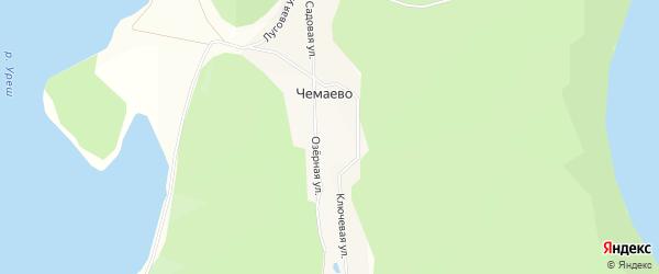 Карта деревни Чемаево в Башкортостане с улицами и номерами домов