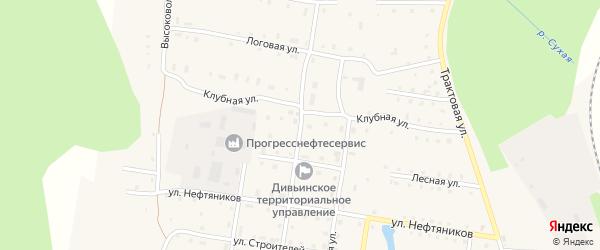 Молодежная улица на карте поселка Дивья с номерами домов