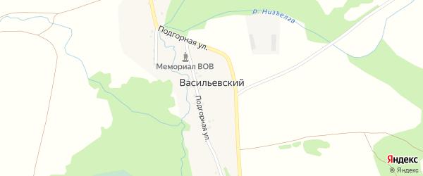 Улица В.Псянчина на карте Васильевского хутора с номерами домов