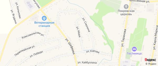 Улица Мира на карте села Мраково с номерами домов