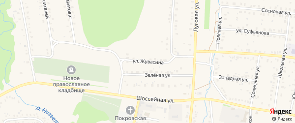 Улица Жувасина на карте села Мраково с номерами домов