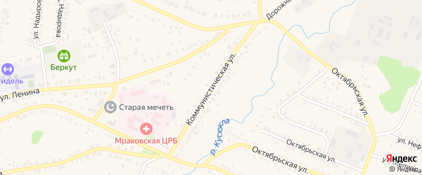 Коммунистическая улица на карте села Мраково с номерами домов