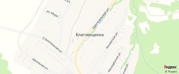 Полевая улица на карте села Благовещенки с номерами домов