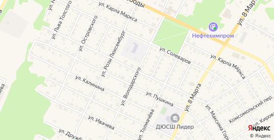 Улица Володарского в Усолье с номерами домов на карте. Спутник и схема онлайн