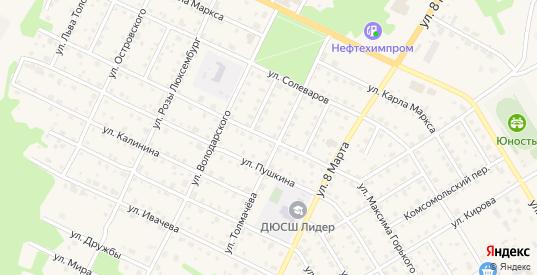 Улица Горького в Усолье с номерами домов на карте. Спутник и схема онлайн