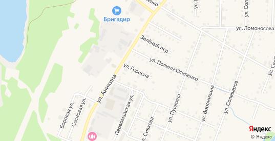 Улица Герцена в Усолье с номерами домов на карте. Спутник и схема онлайн