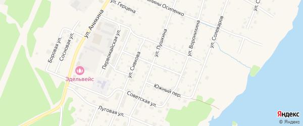 Молодежный переулок на карте Усолья с номерами домов