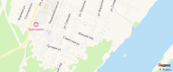 Южный переулок на карте Усолья с номерами домов