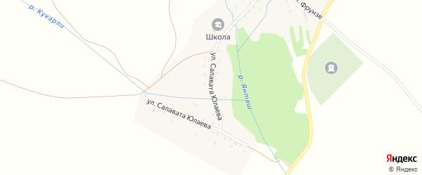 Улица Салавата Юлаева на карте села Нукаево Башкортостана с номерами домов