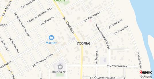 Полевой проезд в Усолье с номерами домов на карте. Спутник и схема онлайн