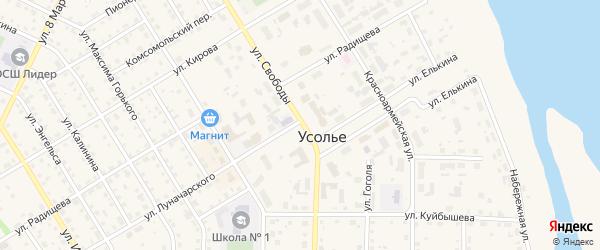 СНТ Коллективный сад 79 на карте Усолья с номерами домов