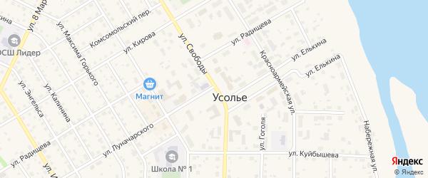 СНТ Коллективный сад 76 на карте Усолья с номерами домов