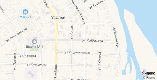 Улица Куйбышева в Усолье с номерами домов на карте. Спутник и схема онлайн