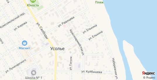 Улица Елькина в Усолье с номерами домов на карте. Спутник и схема онлайн