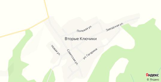 Карта села Вторые Ключики в Пермском крае с улицами, домами и почтовыми отделениями со спутника онлайн