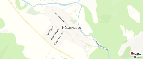 Карта деревни Ибрагимово в Башкортостане с улицами и номерами домов