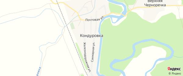 Карта села Кондуровки в Оренбургской области с улицами и номерами домов