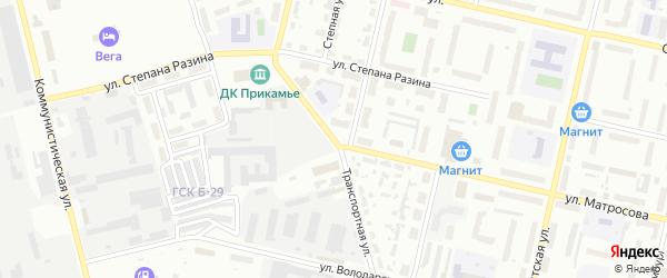Транспортная улица на карте Соликамска с номерами домов