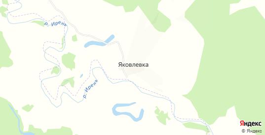 Карта деревни Яковлевка в Пермском крае с улицами, домами и почтовыми отделениями со спутника онлайн