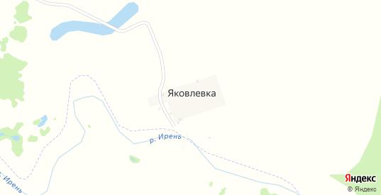 Береговая улица в деревне Яковлевка в Пермском крае с номерами домов на карте. Спутник и схема онлайн