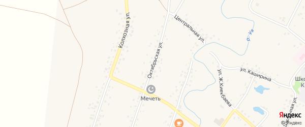 Октябрьская улица на карте села Саитбабы с номерами домов