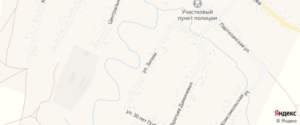 Улица Зилим на карте села Саитбабы с номерами домов