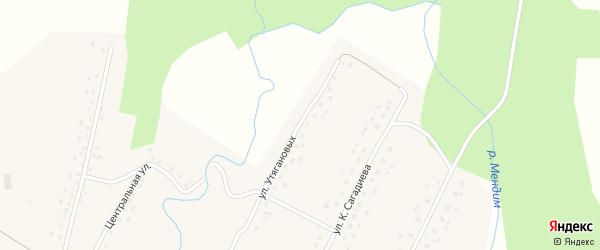Улица Утягановых на карте села Саитбабы с номерами домов