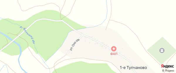 Улица Оло Ик на карте деревни 1-е Тупчаново с номерами домов