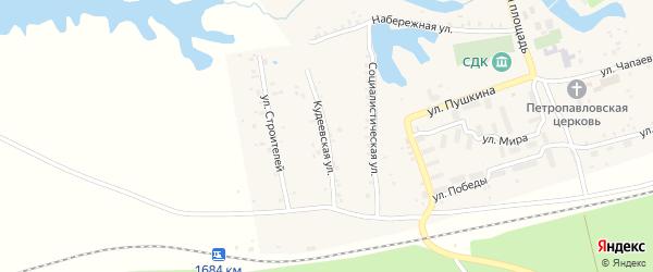Кудеевская улица на карте села Кудеевского с номерами домов