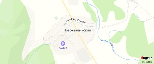 Карта Новохвалынского хутора в Башкортостане с улицами и номерами домов