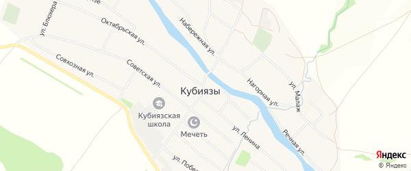 Карта села Кубиязы в Башкортостане с улицами и номерами домов