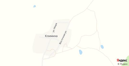 Карта деревни Климиха в Пермском крае с улицами, домами и почтовыми отделениями со спутника онлайн