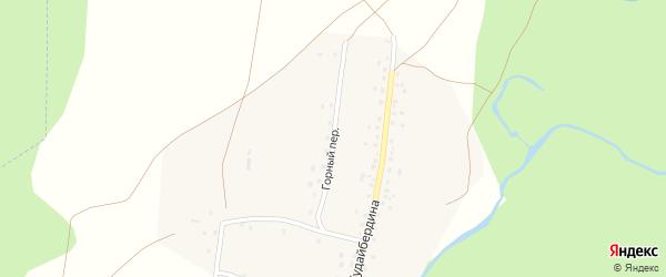 Горный переулок на карте деревни Бикбулатово Башкортостана с номерами домов