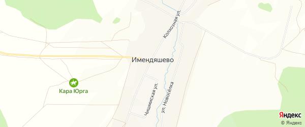 Карта села Имендяшево в Башкортостане с улицами и номерами домов