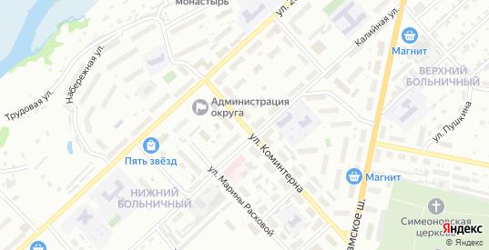 Улица Коминтерна в Соликамске с номерами домов на карте. Спутник и схема онлайн