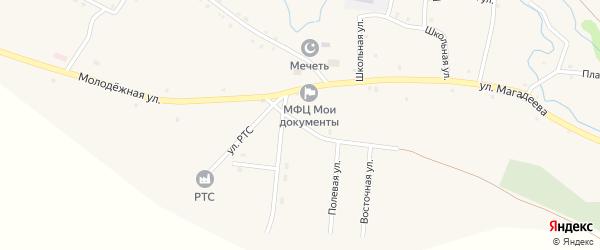 Улица Акбулат на карте села Абзаново с номерами домов